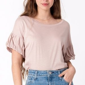 Mauve Puff Sleeve Top